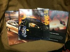 2005 Honda Civic SI complete dealer mailer with all color sales brochure
