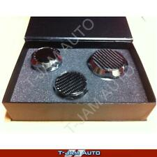Ford Falcon FPV BA BF FG XT XR6 Chrome Billet Carbon Top Cap Cover Set of 3