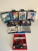 Empty Cases Sega Mega Drive Nintendo SNES DS PlayStation 4 - Various Cond.
