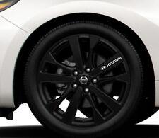 6x Alloy Wheels Stickers Fits Hyundai Logo Graphics Vinyl Decals RD27