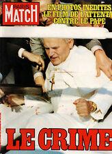 paris match n°1670 le pape jean paul II 2  1981