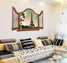 WEAR Fashion Home Room Wall Decal Glow In The Dark Paris Eiffel Tower Sticker