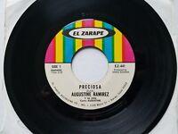 """AUGUSTINE RAMIREZ - Preciosa / Peligro 1973 LATIN RANCHERA El Zarape 7"""""""
