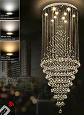 Modern remote dimmable LED crystal chandelier ceiling lamp fixture lighting #906