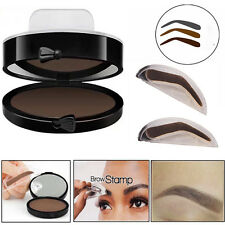 3 In1 Natural Eyebrow Powder Makeup Brow Stamp Delicated Shadow Definition Tools