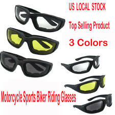 HOT 3PCS Wind Resistant Sunglasses Motorcycle Sports Biker Riding Glasses Padded