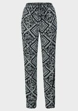 Viscose Tapered Mid Rise 30L Trousers for Women