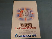 ORIGINAL MOVIE POSTER / AFFICHE - CHARIOTS OF FIRE