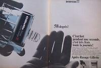 PUBLICITÉ DE PRESSE 1966 LOTION APRÈS RASAGE GILLETTE - ADVERTISING