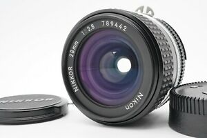 [MINT] Nikon Ai-s 28mm F/2.8 MF Wide Angle Lens For F Mount From Japan