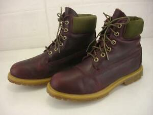 Women's 8.5 M Timberland Earthkeepers Premium Waterproof Lace-Up Boots Burgundy