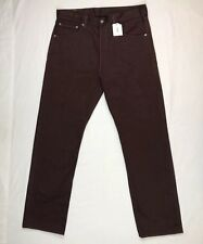 Levis 501 Xx Mens Straight Leg Button Fly Burgundy Denim Jeans Pants Sz 34 X 32