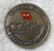 2ID CG CDR KOREA 2001 MG ROBERT DEES BEN CARSON CAMPAIGN MANAGER CHALLENGE COIN