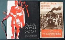 1933 Chicago World's Fair Royal Scot Railroad Train set of 2 souvenir programs!