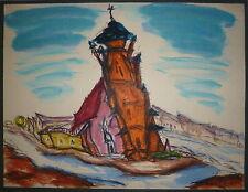 Nakache Armand encre et aquarelle sur papier signée 1962 peintres témoins