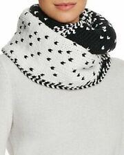 Genie Eugenia Kim Dakota Chunky-Knit Ombre Infinity-Loop Scarf Black-White #6994