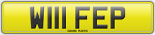 W111 FEP WIFE P PAM REGISTRATION PAMELA NUMBER PLATE POPPY NO ADDED FEES PENNY