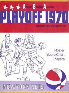 1970 New York Nets Kentucky Colonels ABA Playoff program B2