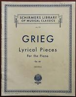 Grieg Gefühlvoll Teile für Den Klavier Op. 68 – Kneipe 1932