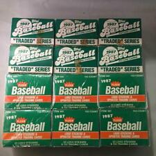 Lot of 12 - 1987 Fleer Update & Topps Traded Boxed Sets - 6 ea. w Greg Maddux RC