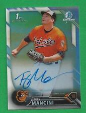 2016 Bowman Chrome Prospects Refractor Auto TREY MANCINI /499 Baltimore Orioles