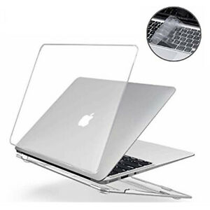 "Macbook Air Pro Glossy Crystal Clear Case + Keyboard Cover 11"" 12'' 13"" 16"" inch"