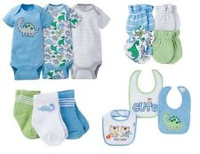 Gerber Baby Boy Blue Dinosaurs Bundle Clothes Set Size 0-3M BABY SHOWER GIFT!