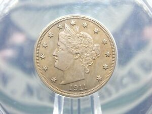 "1911 Liberty ""V"" Nickel 5c ANACS MS62  East Coast Coin & Collectables, Inc."