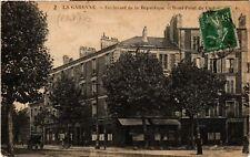 CPA  La Garenne - Boulevard de la République et Rond-Point du Centre  (581872)