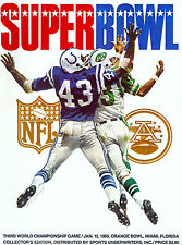 SUPER BOWL 3 BALTIMORE COLTS vs NEW JORK JETS 8X10 PHOTO OF OFFICIAL PROGRAM