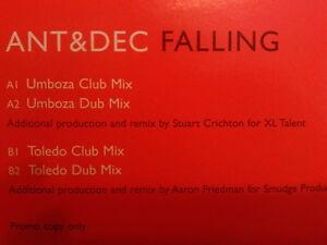 "Ant & Dec - Falling 1997 12"" Promo 12STAS2905 MINT Toledo Umboza"