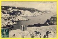 cpa 13 - MARSEILLE (Bouches du Rhône) La CORNICHE Anse à identifier