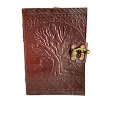 *Tree of Life* Leather Journal, Notebook, Diary, Travel Book. Handmade.