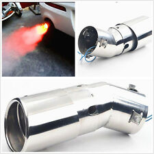 Car Auto Rear Exhaust Pipe Tail Throat Smaller than 63mm with Red Warning Light