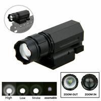 3000Lm Zoomable Pistol Flashlight XPG-Q5 LED Torch Hunting Light 20mm Rail Mount