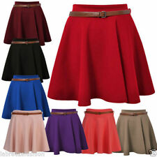 Short/Mini No Pattern Regular Flippy, Full Skirts for Women