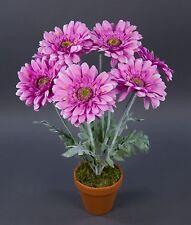 Gerbera 45cm Lavendel Im Topf LM Kunstpflanzen Künstliche Pflanzen  Kunstblumen