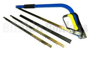 """21"""" TAPER BOW SAW HEAVY DUTY TREE WOOD BRANCH LOG PRUNING GUARD SPARE BLADES 23"""