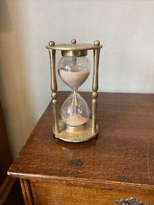 Vintage Very Large Brass Timer Egg Timer Clock