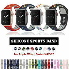Apple Watch Band Series 5 4 3 21 Sport Soft Silicone iWatch Strap Band Wristband