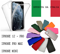 Cover Custodia Apple Iphone 12 Pro Mini Max Pellicola Silicone Trasparente Slim