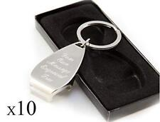 10 X Personalised Chrome Bottle Opener Keyring/keychain Can Be Engraved