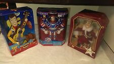 "Toy Story Lot of 3 12"" Figures Stars Stripes Buzz Strummin Woody Holiday Heroes"