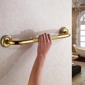 Wall Mount Anti Slip Bathtub Safety Grab Handle Gold Bathroom Shower Handrail