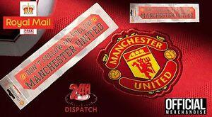 2X OFFICIAL MANCHESTER UNITED FOOTBALL CLUB CAR WINDOW STICKER MAN UTD RED