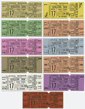 Rare KINGSTON TRIO 1961 Unused Concert Ticket - Set of Eleven (11) Full Tickets