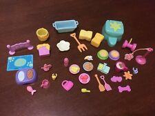 Food & Snacks Lot Bowl Dish Bottle Toys Pail Cup Littlest Pet Shop Set