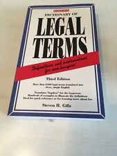 Dictionary of Legal Terms by Steven H. Gifis (1998, Paperback)