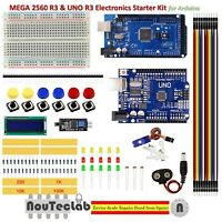DIY Kit MEGA 2560 UNO R3 Breadboard LED LCD SG90 Jumper Wire Button for Arduino