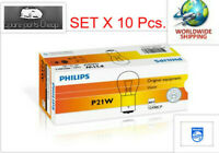 10x PHILIPS VISION P21W 12V 21W BA15S 12498CP